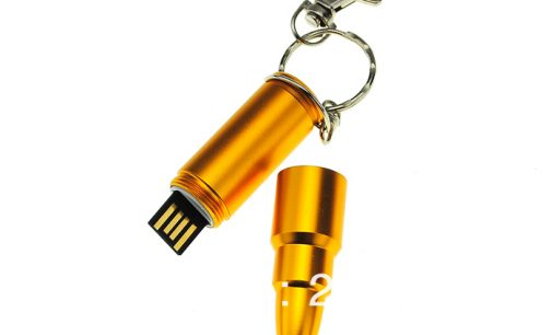 8GB Fashionable Rocket Shaped Metal U Disk USB Flash Drives Memory (Golden)