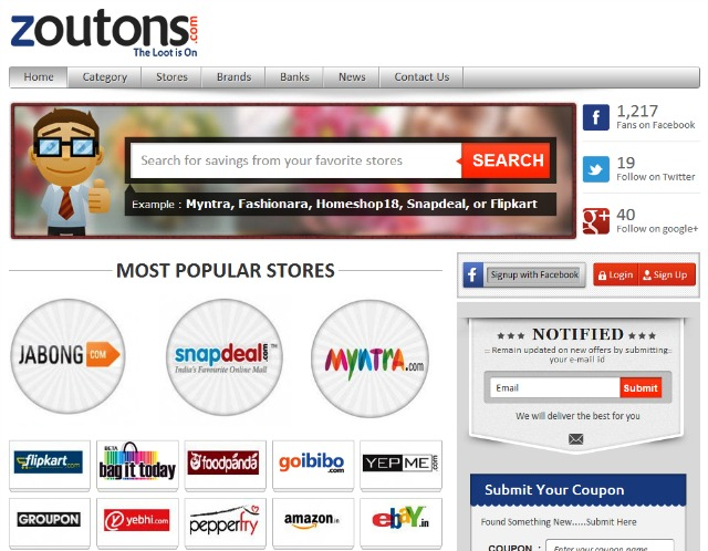 Zoutons_coupon-website-india