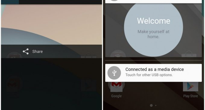 Android L versus Android 4.4 Kitkat