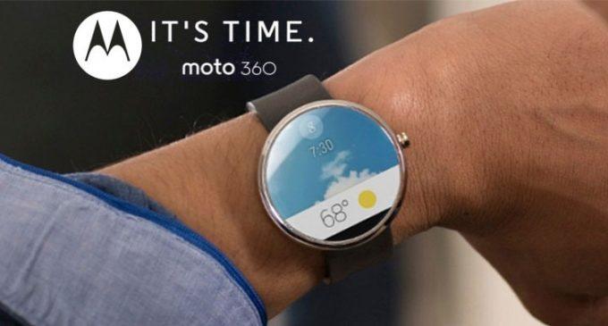 Stylish Circular Display Smart Watch- Motorola Moto 360