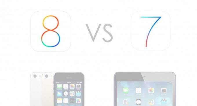 iOS 8 vs iOS 7 Comparison Review