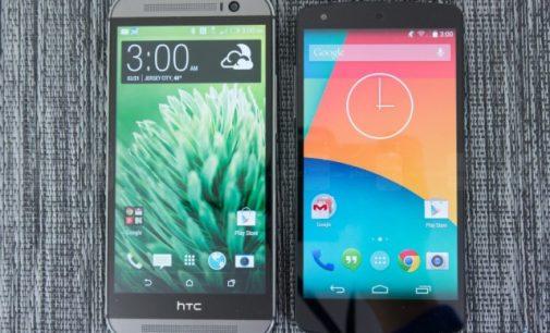 Nexus 6 vs HTC One M8 Comparison