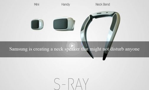 Samsung is creating a neck speaker that might not disturb anyone