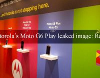 Motorola's Moto G6 Play Leaked Image: Report
